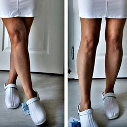 Oden Klompe bele papuce -BELE Suecos klompe (6)