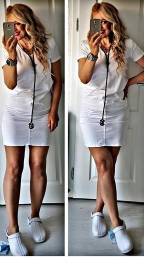 Oden Klompe bele papuce -BELE Suecos klompe MB UNIFORMS (2)