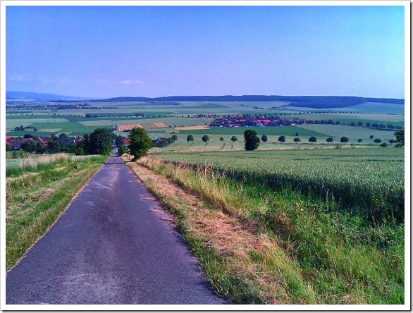Blick über Upstedt nach Bültum