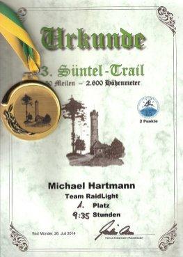 Urkunde mit Medaille