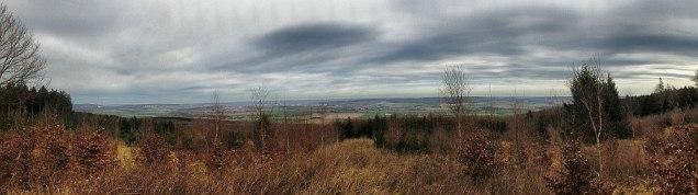 Blick vom Hammberg, der erste des Tosmartrails