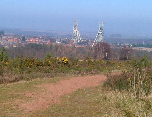 In the distance ( it looks further away than it actually is ) are the Largest Pit Head stocks still left standing in the UK... The Coal mine was closed in 2003.