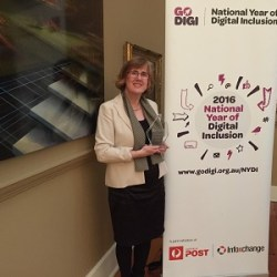Go Digi National Awards Mentor Category Highly Commended Sue Ellson