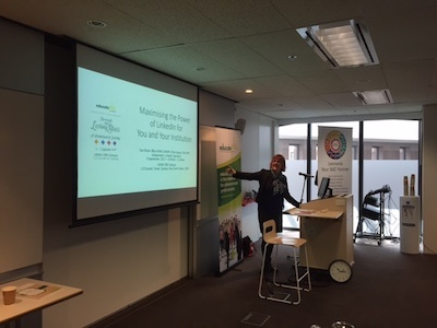 EducatePlus NSW / ACT Chapter Conference 2017 Maximising LinkedIn for You and Your Institution Sue Ellson