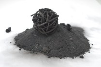 making a charcoal sphere- it seems to have worked!