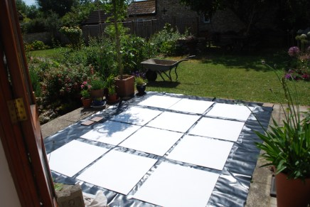 preparing panels with gesso