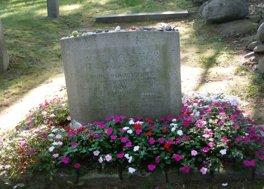 Grave marker of Willa Cather.
