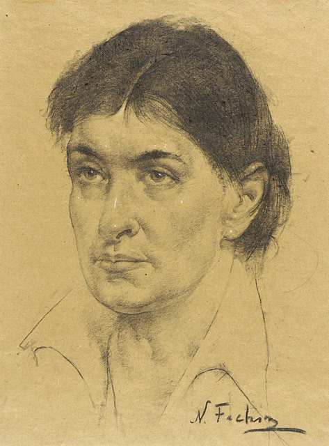 Sketch of Willa Cather by Nicolai Fechin (1881-1955)