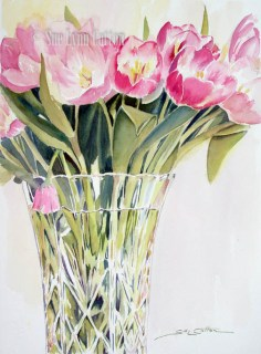 Tulips in Crystal $110