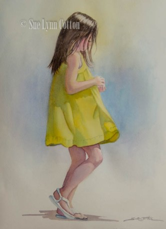 Young Girl in Yellow Dress $99