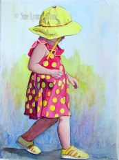 Little Girl in Yellow Hat $99