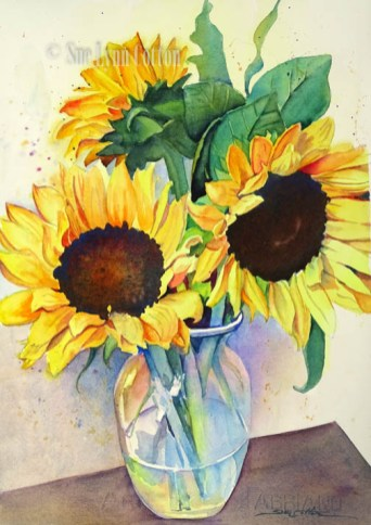 Sunflowers in Glass $99
