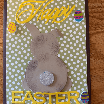 This Easter bunny was made by using circle dies instead of a bunny stamp or die.
