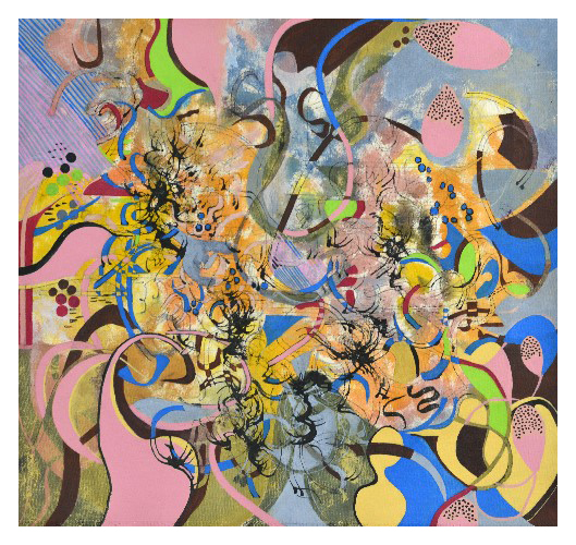 'Music I' (54 x 50cm, acrylic on canvas, 2015) £560