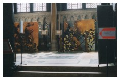 Sue's exhibition in Westminster Cathedral, 2003