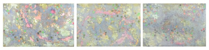 Triptych, made at St Paul's Cathedral (285 x 61cm, oil and mixed media on canvas, 2004)