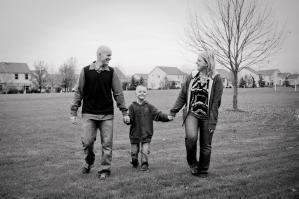 Family with joy