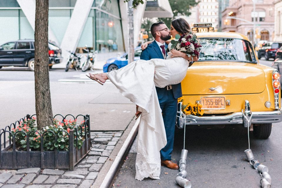 yellow-classic-cab-wedding-photos-rental-suessmoments-nyc-photographer