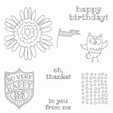 So Very Happy Stamp Set1