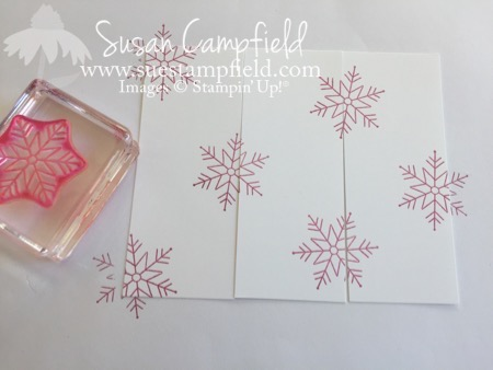 Fan Fold Stitched With Cheer Snowflakes - 3