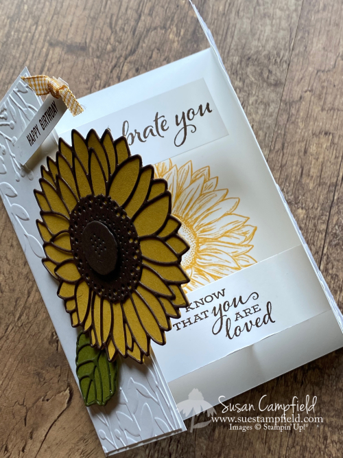 Sunflower Floating Gatefold Card0000