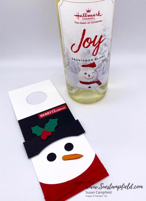 Snowman Wine Tag - 3