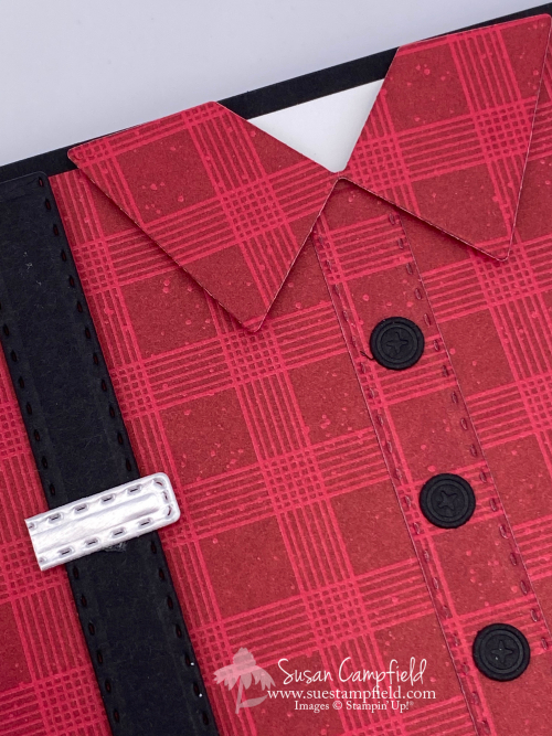 Handsomely Suited Bundle Suit & Ties Dies Red Flannel Shirt stampin up