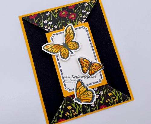 Butterfly Bouquet Mango Double Point Swap Card - 1