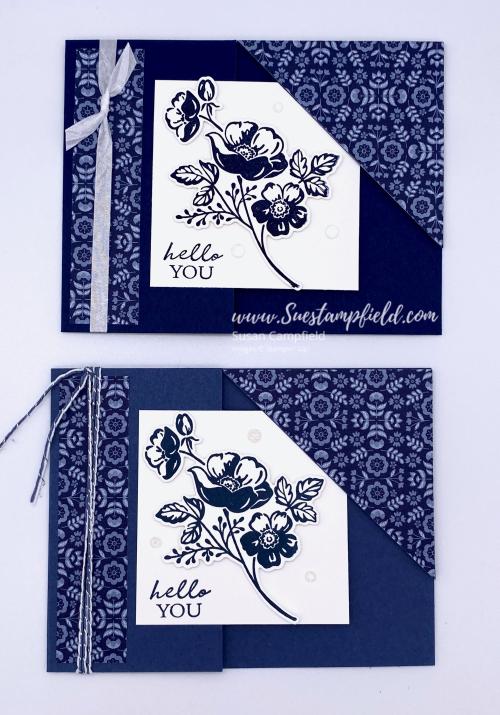 Shaded Summer Corner Tuck Fold Card - 3