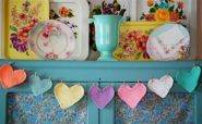 pretty hearts garland