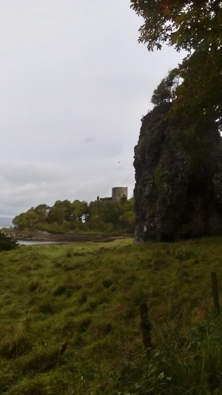 Dunollie Castle in the distance