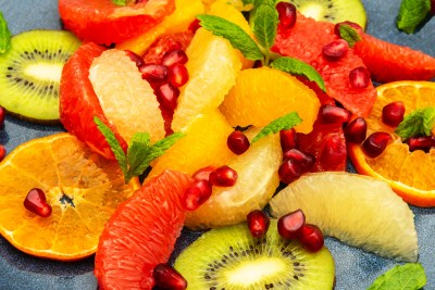 Fresh Fruit Salad with vibrant colours