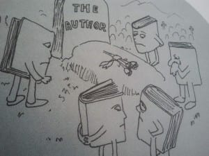 Death of the Author cartoon by Donald Palmer 1997