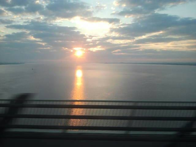 sunrise over the river humber