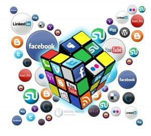 image of social media logos