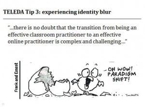 TELEDA Top Tip 3 experiencing identity blur