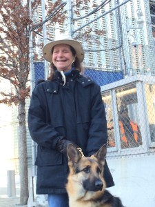The author and her new Seeing Eye dog in New York City