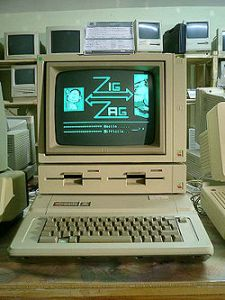 An Apple 2E from the 1980s