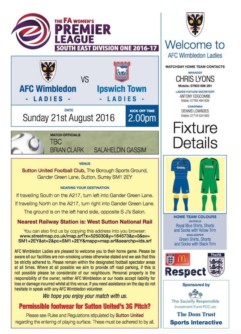 The FA Women's Premier League Flyer