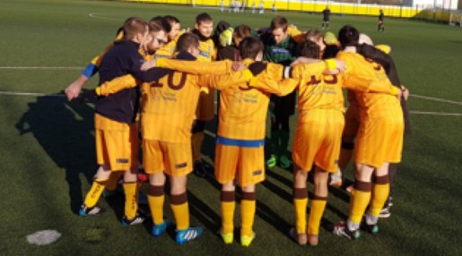 Sutton United Disability Cup Team Huddle