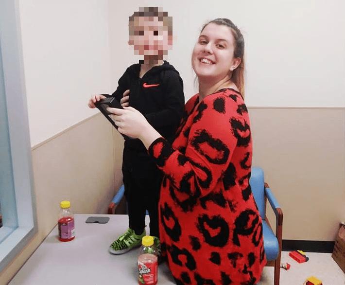 Katharine and her son in February of 2019. (Facebook)