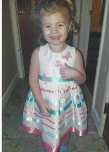 Brinley Snyder in a dress