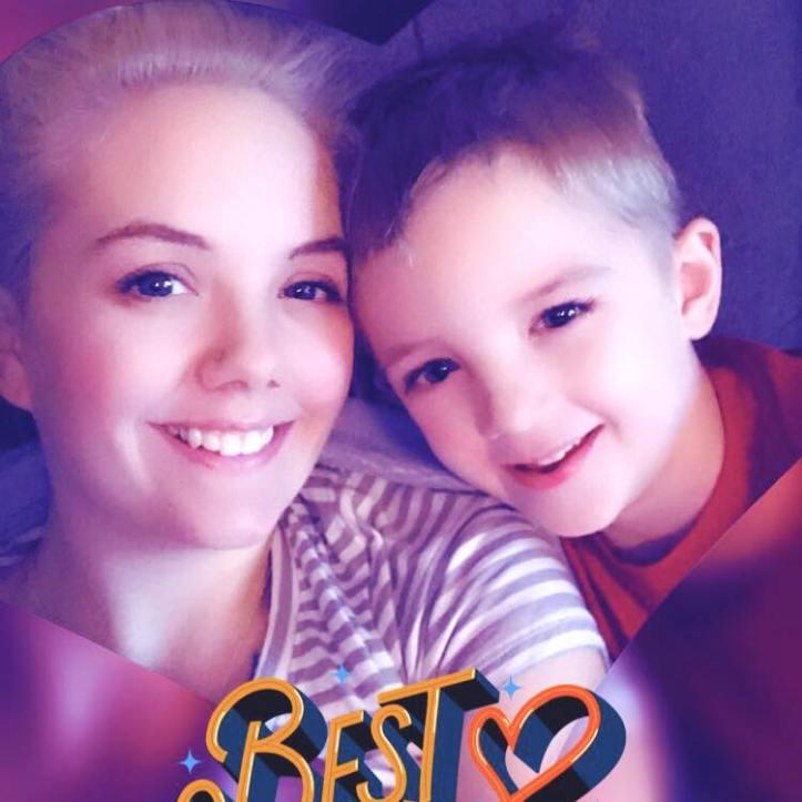 Abigail Neiger-Bickham and son Jaxson