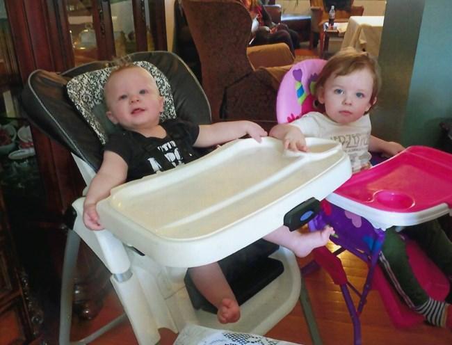 Baby Aiden Xavier Leonardo and his sister Sophia
