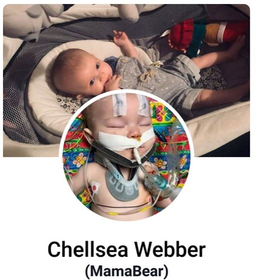 Chellea Webber's Facebook profile and cover photos soon after the incident.