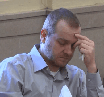 Groves trial: Daniel Groves reacts to his son Dylan's autopsy photos.