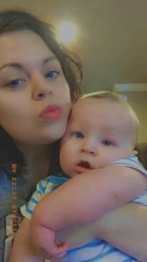 Baby Aiden Leonardo and his mother Lindsee