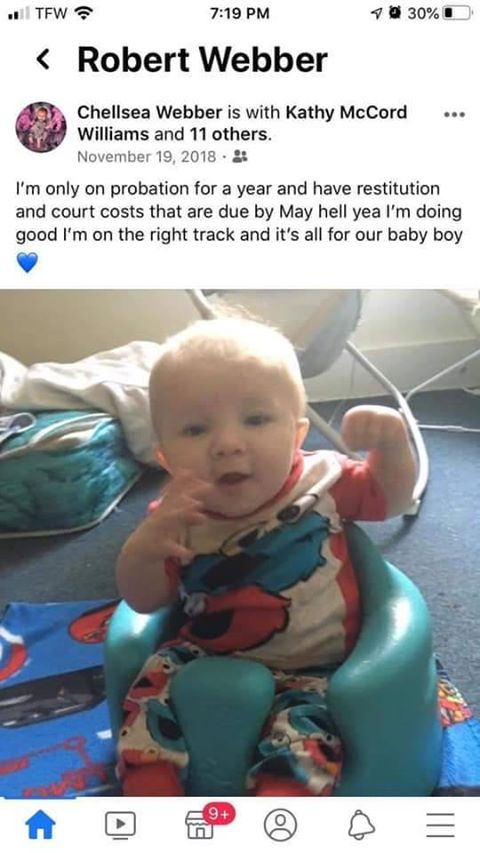 Chellsea Webber's post about trying to regain custody of their son Leeland