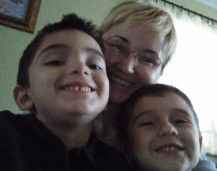 Justyna Zubko-Valva with sons Thomas and Andrew