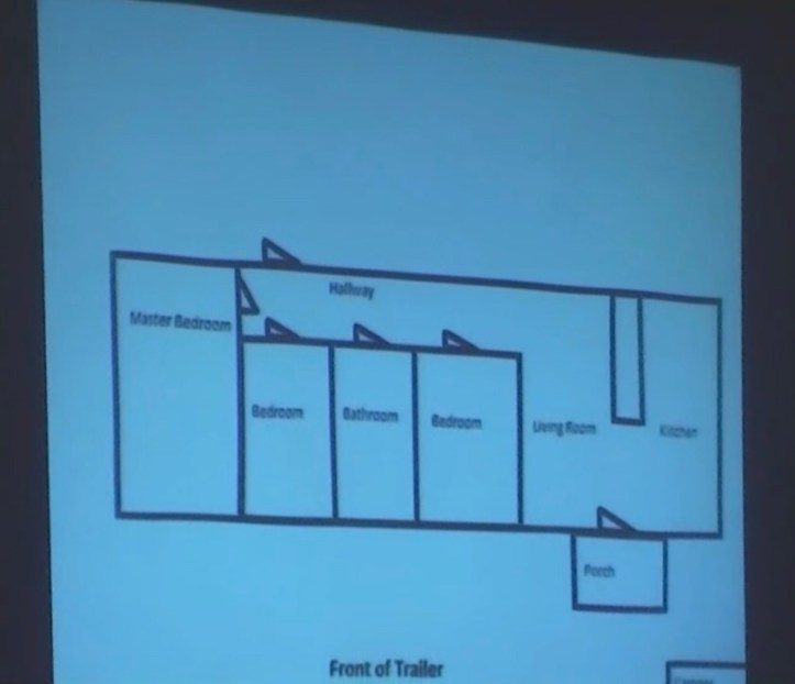 Groves trial evidence: A diagram of the Groves' trailer home created by Scioto County Sheriff's Detective Adam Giles
